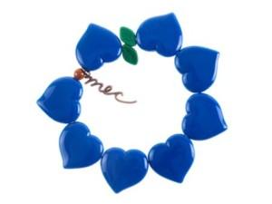 Flor de corazon de Azul caribe by Mec