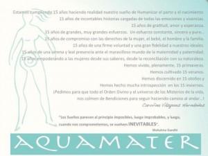 Aniversario Aquamater