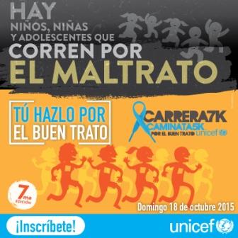 Carrera/Camina 7k por el buen trato de Unicef Venezuela