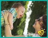 El bebé empezó a sonreír