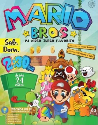 Obra infantil: Mario Bros, mi vídeo juego favorito